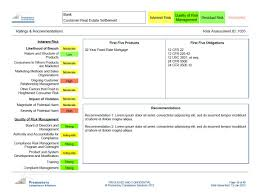 sample management reports radar compliance software solutions promontory cs view a sample report