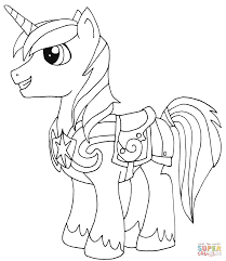 shining armor coloring page free printable coloring pages