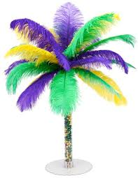 diy mardi gras feather tree centerpiece by mardi gras outlet