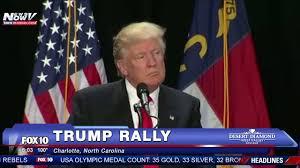 Charlotte Flag Full Donald Trump Rally Charlotte North Carolina 8 18 16 Fnn