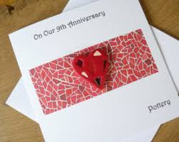 ninth anniversary gifts pottery anniversary gifts etsy