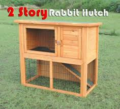 Rabbit And Guinea Pig Hutches Brand New Deluxe Large Double Storey Timber Wooden Pet Rabbit