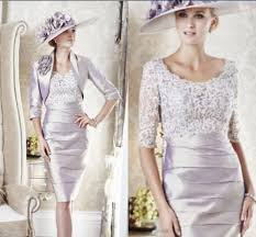 dress and jacket for wedding knee length lace silver of the wedding guests