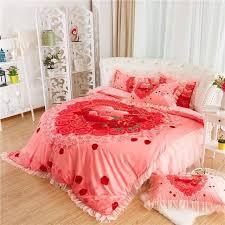 Kingsize Duvet Cover Aliexpress Com Buy Round Bed Rose Flower Bedding Kit Super