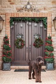holiday decor xmas wreath ideas with brick veneer and decorating