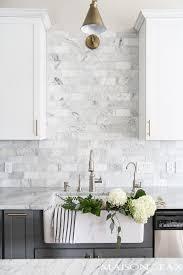 kitchen subway tile marble look subway tile gondolasurvey