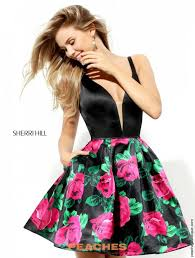 sherri hill short prom dress 50596 at peaches boutique