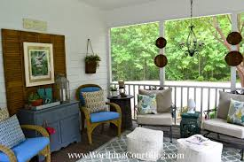 Screened In Porch Decor A Screened Porch Haven For Warm Summer Days