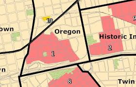 map of just oregon neighborhood guide oregon district