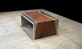 Steel Coffee Table Steel And Wood Coffee Table By Johnhoushmand Wood Coffee Tables