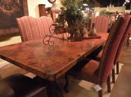 Copper Top Dining Room Tables Copper Top Dining Table Western Dinner Table