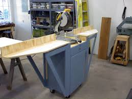 Folding Table Saw Stand Miter Saw Stand With Folding Wings By Tlar Engineering