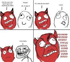 Rage Meme Face - devil troll le rage comics