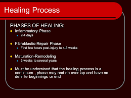 understanding and managing the healing process ppt