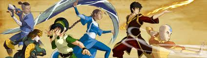 fan art legend korra intro coloured aang u0027s team avatar