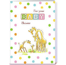 baby shower giraffe family congratulate greeting card by