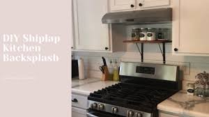 shiplap kitchen backsplash with cabinets diy shiplap kitchen backsplash 40 quarantine home project