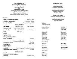 wedding bulletin catholic wedding ceremony program template without mass