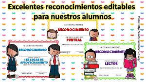 imagenes de reconocimientos escolares excelentes reconocimientos editables para nuestros alumnos