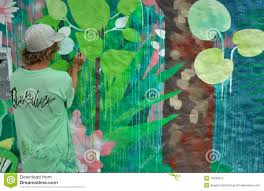 painter painting a wall mural editorial image image 18180315 mural painter
