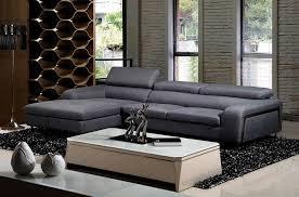 canapé d angle en tissu de qualité 5 places salerno gris foncé