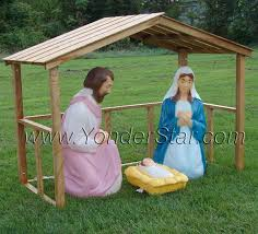 Nativity Sets Outdoor Plastic Lighted Lighted Outdoor Nativity Set With Stable Yonder Star Christmas