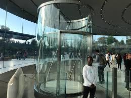 glass doors jobs apple u0027s rotating glass elevator in steve jobs theater video