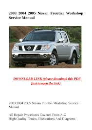 28 2005 nissan frontier service manual 114770 other manuals