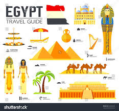 country egypt travel vacation guide goods stock vector 623565653