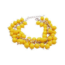 yellow bracelet images Cluster bracelet stylish yellow beads handmade bracelet jpg