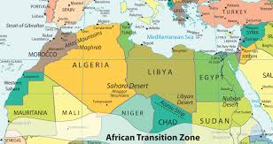 Asia Map Labeled by North Africa And The African Transition Zone
