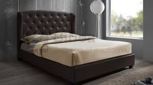 awesome birlea prague 5ft kingsize brown faux leather bed frame