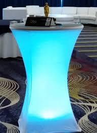 Led Bistro Table Led Lit Bistro Table For Rent Nolan U0027s Rental