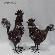 metal chicken decoration metal chicken decoration suppliers and