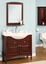 excellent narrow bathroom cabinet with dark brown finish and brown