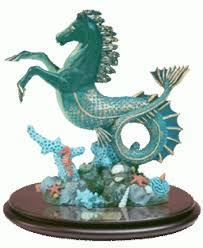 sea horse statue by oberon zell water horse horse eel