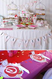 Tea Party Decorations For Adults Tea Party Printables Tea Party Decorations A Baby Is Brewing