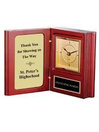 Wood Desk Clock Desk Clocks Medals Plaque Crystal Awards Crown Trophy