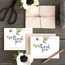 wedding thank you card and print pretty anemone wedding thank you cards