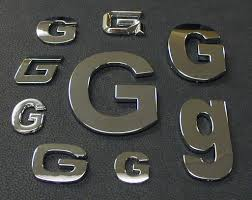 chrome letters chrome numbers chrome symbols chrome auto