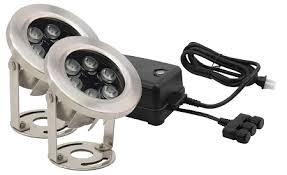 stainless steel pond light kit 9 watt led transformer