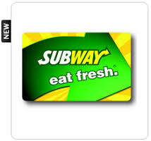instant win gift cards my coke rewards 5 subway gift card instant win 6 912 prizes