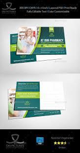 pharmacy postcard template vol 2 u2014 photoshop psd advertisements