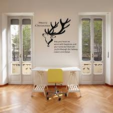 aliexpress com buy christmas wall decal quote merry christmas aliexpress com buy christmas wall decal quote merry christmas deer animal mural wall sticker room wall glass door decor shop window decoration 677m from