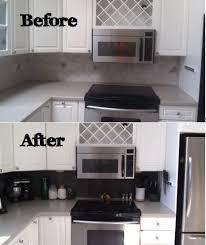 stick on kitchen backsplash before and after of peel and stick kitchen backsplash peel and