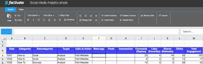Social Media Tracking Spreadsheet by How To Set Up Your Social Media Analytics Excel Spreadsheets