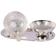 silver gift items bowl german silver pudding set boontoon