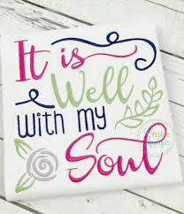 it is well with my soul shirt sample sale custom embroidery