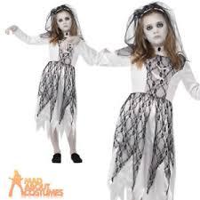 Corpse Bride Costume Child Ghostly Corpse Bride Costume Girls Halloween Zombie Horror