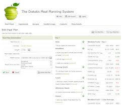 healthy eating planner template dietitian resources meal planner meal planning software